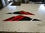 Boat Decal Pair Red / Black / White 42 1/2 L X 12 W Marine