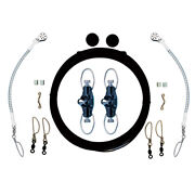 Rupp Single Rigging Kit W/nok-outs - Black Mono 160and039 Lines