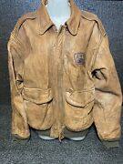 Avirex U.s.army Airforces Type A-2 Men's Flight Jacket Leather Camp Shows