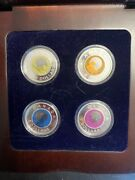 Royal Canadian Mint 2011-2012 5 Full Buck Moon 4-coin Set In Display Case