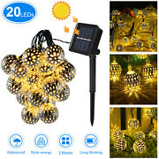 20led Waterproof Solar Outdoor Moroccan String Light Party Path Yard Garden Lamp