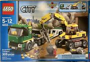 Lego City Excavator Transport 4203 100 Complete In Box W Minifigs And Manuals