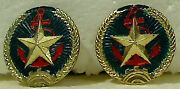 Two 2 Vintage Vietnamese Navy Naval Insignia Crests For Pith Helmet Nos