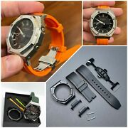 Rubber Band For Casio G-shock Ga2100 2110 Watch Strap And Metal Bezel Fluorine