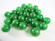 Lot Of 24 Mixed Antique Small Blown Glass Christmas Ornaments, Green