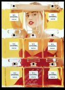 1998 No.5 Perfume Woman And 8 Bottle Color Photo Vintage Print Ad