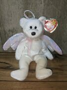 Ty Beanie Baby Halo The Angel Bear Brown Nosed Rare Retired With Tag Errors