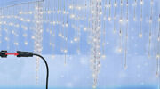 Kaemingk 370 White Led Christmas Icicle Lights Connect 24v Extension Clear Wire