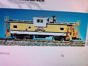 Usa Trains G Scale 12105 Denver Rio Grande Extended Vision Caboose Yellow/silver