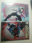 Amazing Spiderman 59 And Miles Morales Spiderman 23 Kirkham Connecting Covers