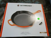 New Le Creuset 10-1/4 In. Signature Round Cast-iron Skillet