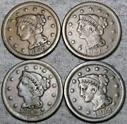1850 1851 1852 1853 Braided Hair Large Cent Penny ---- Nice Type ---- M747