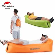 Inflatable Camping Sofa Banana Bag Air Lounge Blow Up Couch Chair Sleeping