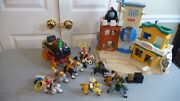 Fisher Price Great Adventure Western Town Stage Coach Figures Cannon +more