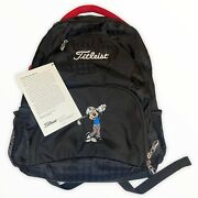 Deadstock 2010 Titleist Mickey Mouse Travelerandrsquos Black Backpack Nwt Very Rare
