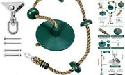 Kids Tree Swing Climbing Rope With Foot Hold Platforms,hanging Kit And Disc