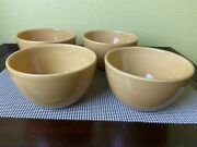 4 Pottery Barn Sausalito Amber Yellow Coupe Cereal Bowls 6-inch China