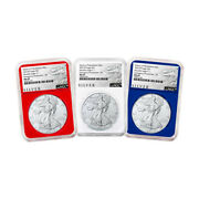2021 P 1 American Silver Eagle 3pc. Set Ngc Ms69 Emergency Production Als Er