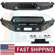 Offroad Textured Front Rear Bumper Guard W/ Led Lights For 09-14 Ford F150