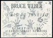 1986 Bruce Weber Hand Photos Nyc Gallery Show Vintage Print Ad