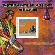 Guinea - African Musical Instruments - Stamp S/s - 7b-1143