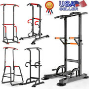 Dip Station Power Tower Pull Up Bar Strength Training Workout Equipment Us Store