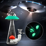 7and039and039 Glow Hookah Smoking Bong Shisha Fly Shape Glass Silicone Water Pipe Us X1