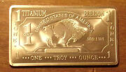 100 Troy Ounce Oz American Buffalo 999 Pure Titanium Bullion 100 Bars Ti Element