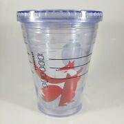Starbucks 2012 Christmas Holiday Fox And Dove Clear Cold Cup Coffee Tumbler 12oz