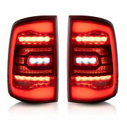 For 09-18 Ram All Trim Pickup And 19-21 1500 Classic Red Fiber Optic Led Taillight