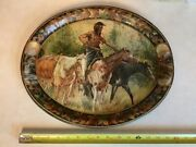 Antique Advertising Tray Indian Washington State Buckley Enumclaw Art Dept Store