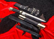 Cossack Plastun Knife With A Leather Leg Strap Steel Forged 95h18 Brass Казак
