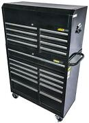 Jegs 81463k Steel Rolling Tool Cabinet And Tool Chest Kit 11-drawer Bottom And 8-d