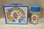 Vintage Aladdin 1983 Care Bears Metal Lunch Box W/thermos -amazing Condition