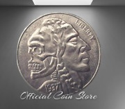 Hobo Coin Indian Brave Military Army Nickels Dollars Art Silver Us Carved Casted