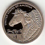 2012 S Sacagawea Golden Dollar Native American Trade Routes In The 17th Century