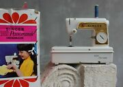 Vintage Singer Toy With Case Sewing Machine Golden Panoramic Made In France Pl