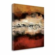 Tangletown Harmony In Red And Ochre By Laurie Maitland Wall Art Ca304042-3030c