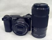 Sony Alpha A6000 Mirrorless Digital Camera + 16-50mm And 55-210mm Lens + Case New