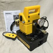 Enerpac Wud1100b Single Acting Hydraulic Electric Pump With Dump Control Valve