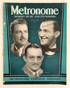 Metronome Magazine July 1939 Glen, Benny And Tommy Contest Winners