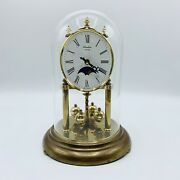 Linden Quartz Moon Phase Dome Clock. Made In Germany.