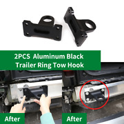 For Land Rover Defender 2020-21 2pcs Aluminum Black Trailer Ring Tow Hook