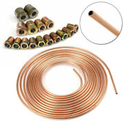 Steel Zinc Copper Nickel Brake Line Tubing 1/4 Od 25ft/7.6m Coil Roll And Fittings