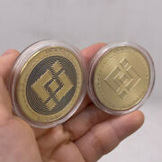50pcs Gold Bnb Binance Crypto Coin Cryptocurrency Collectible Physical Coins