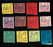 1963 - 1969 Madison Square Garden College Basketball Ticket Stubs 12 In All