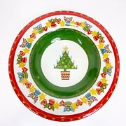 Christopher Radko Rare It's Christmas Discontinued Large Serving Dish 15 1/2