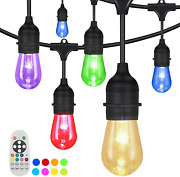 Outdoor String Lights Yuusei 100ft Waterproof Colored Changing Patio Lights Led