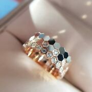 Honeycomb Ring Hot Cake Small Bee Hexagonal Nest Ornaments Jewelry Engagement