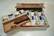 Lot Of 12 Ho Scale Walthers Maine Central 50' Waffle Side Box Car Train Kit